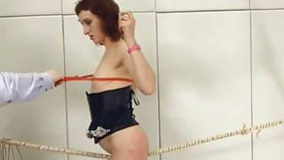 To much of rope and extreme BDSM submissive fuck image
