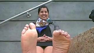 Indian Girl Shows Off Her Feet image