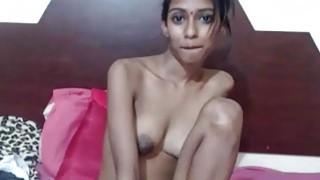 Amateur Skinny Indian Desi Teen Sins By Showing Big Tits On Webcam image
