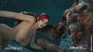 3d animation moster sex with a redhead big tits ba image