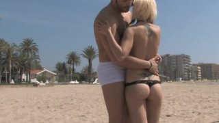 Punk blonde Aris Dark wants to give a blowjob image