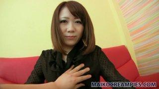 Red haired Japanese Mari Okuda enjoys ardent masturbation image