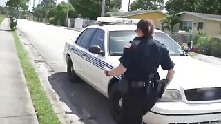 Outdoor fucking with busty cops and big black cocked thug image
