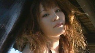 Too sexy chick Yoko Matsugane is proud of her big appetizing boobs image