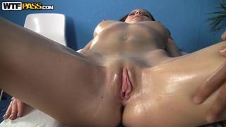 Sexy nude massage gets Mikaela extremely horny. image