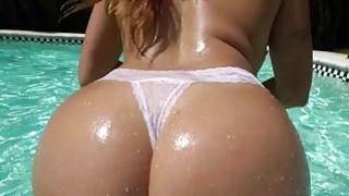 Big Ass Julianna Vega fucked by the pool image
