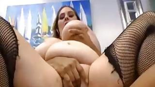 Busty BBW rides a Big Black_Cock image