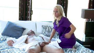 Alix Lynx comes over to Danny's house to give him a massage image