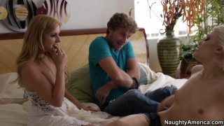 Ash Hollywood and her boyfriend decide to have their first threesome with Lexi Belle image