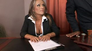 Slutty boss Vivian gets fucked hard_by her subordinates image