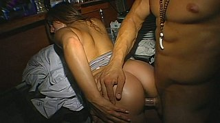 Bent over and fucked on her birthday party image