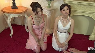 JAV CFNM action with_two girls image