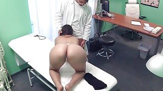 Doctor shoves cock in patents cunt in hospital image