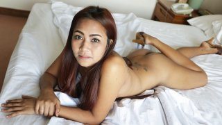Nice amateur Asian fucked silly with a big cock POV stlye image