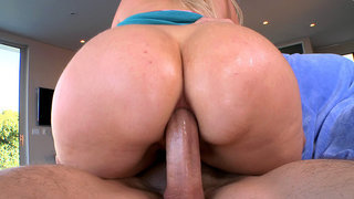 Anal MILF Alana Evans getting fucked ass to mouth image