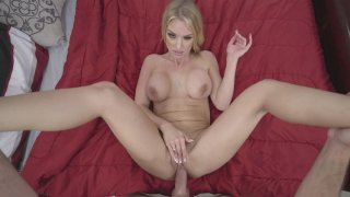 Busty MILF Rachael Cavalli gets her pussy railed in POV image