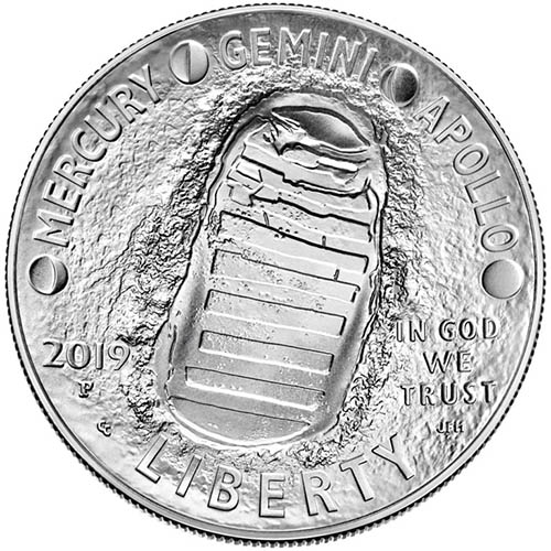 2019 Proof Silver American Apollo 11 50th Anniversary ...