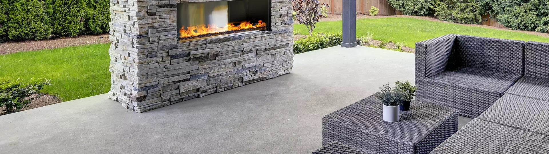 how to clean a concrete patio simple
