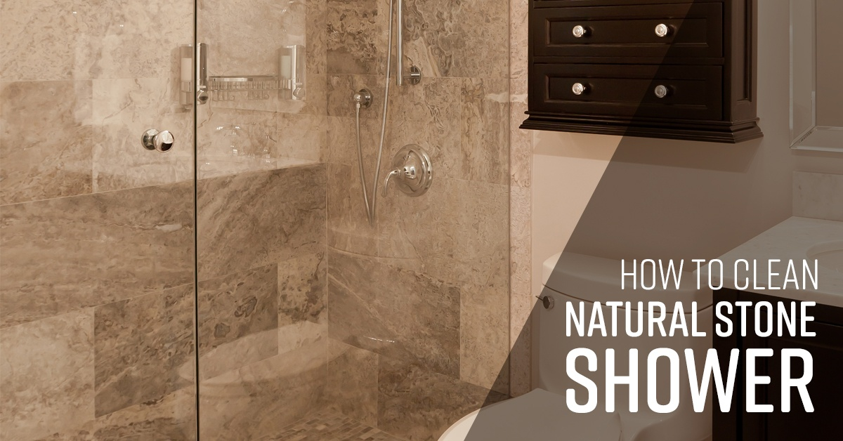 how to clean natural stone shower