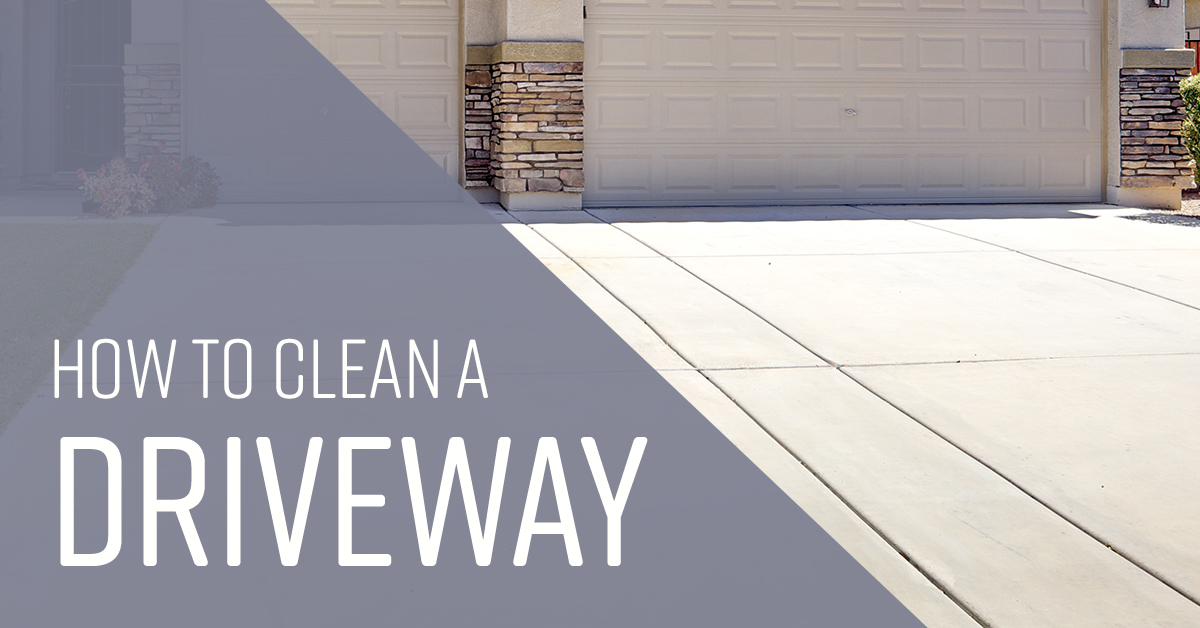 how to clean a driveway simple green