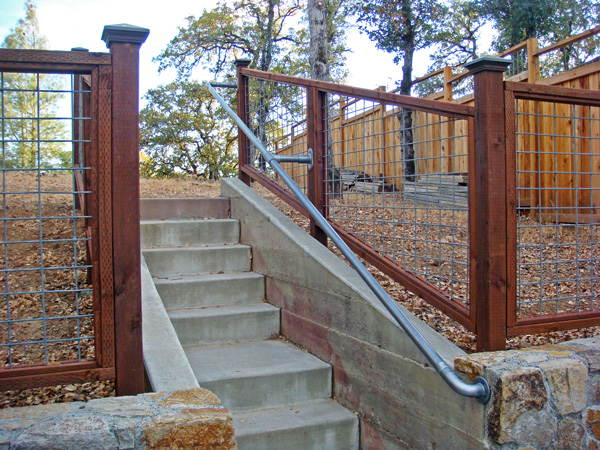 railing examples for concrete steps