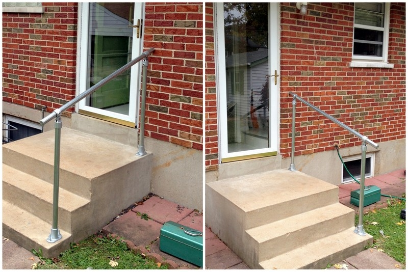 Easy To Install Outdoor Stair Railing | Diy Handrails For Exterior Stairs