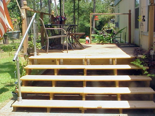 A Simple Handrail For Stairs On Porch Or Deck Simplified Building   Handrails For Porch Steps   Elderly   Makeover   Metal   Back Porch   Aluminum