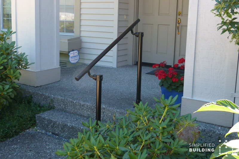 14 Exterior Handrail Ideas Simplified Building | Steel Handrails For Outdoor Steps | Tubular Steel | Steel Handrail Style Kerala Staircase | Stainless | Commercial | Residential