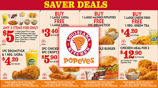 photograph about Popeyes Coupons Printable known as Popeyes Rooster bargains these days - Iup discount coupons