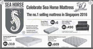 Sea Horse Offers 30 To 50 Off Selected Furniture Mattresses Beds More From 26 Feb 14 Mar 2017