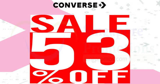 Converse 53% off storewide discount at all outlets on 9 Aug 2018