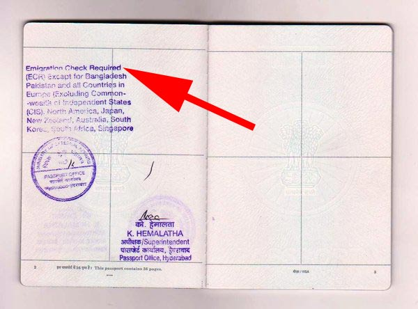 How to Check Passport is ECR or ECNR on an Indian Passport