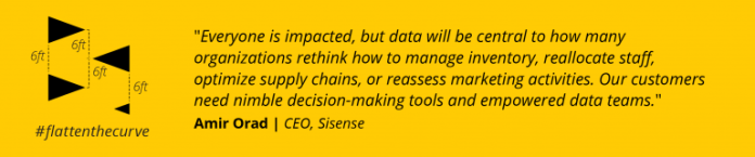 Everyone is impacted. Data will be central to how many organizations rethink how to manage inventory, reallocate staff, optimize supply chains, or reassess marketing activities.