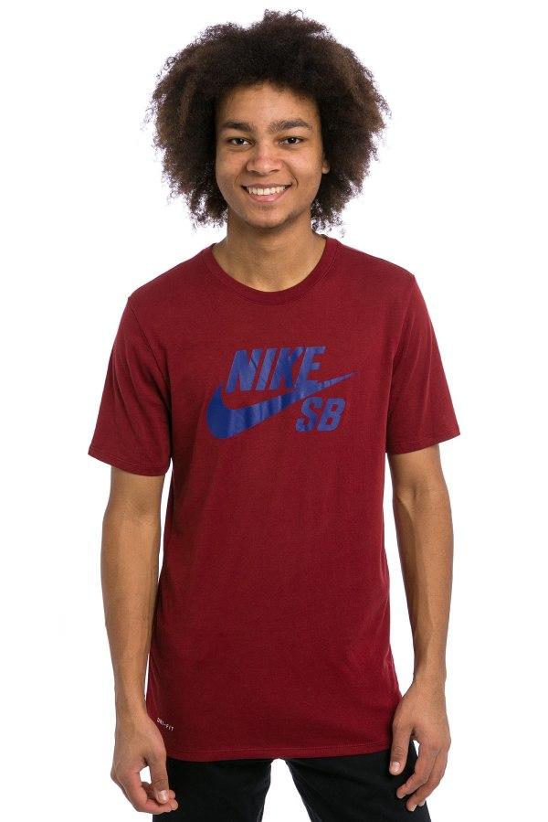 Nike SB Logo T-Shirt (team red deep royal) kaufen bei ...