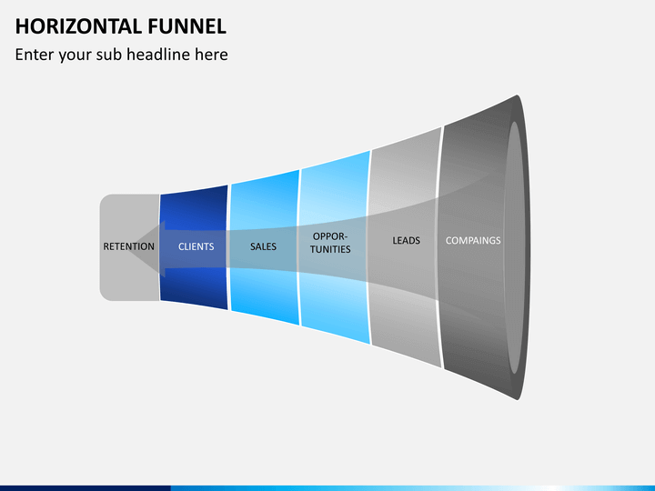 Horizontal Funnel Powerpoint Template Sketchbubble