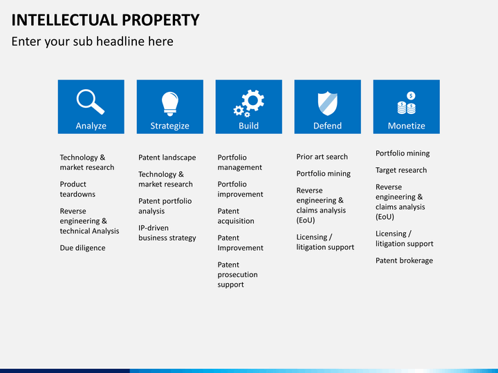 Intellectual Property PowerPoint Template SketchBubble