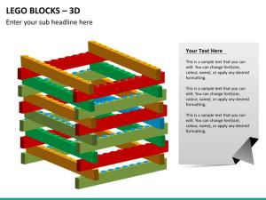 PowerPoint Lego Blocks Diagram | SketchBubble