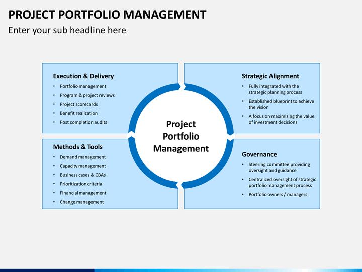 Project Portfolio Management PowerPoint Template SketchBubble