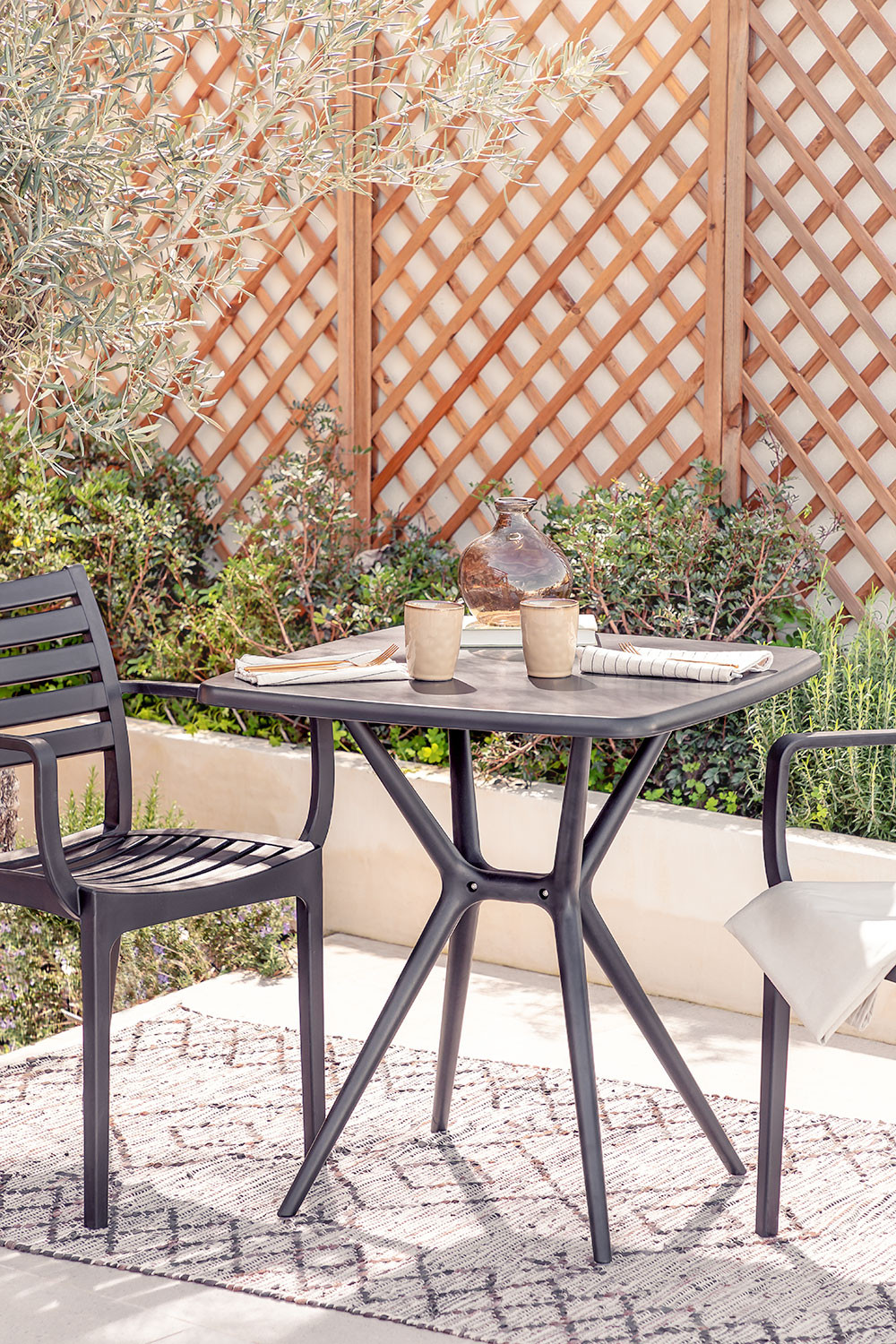 square outdoor table 72x72 cm enno