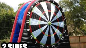 Soccer Darts Giant Velcro Target Game Sky High Party Rentals