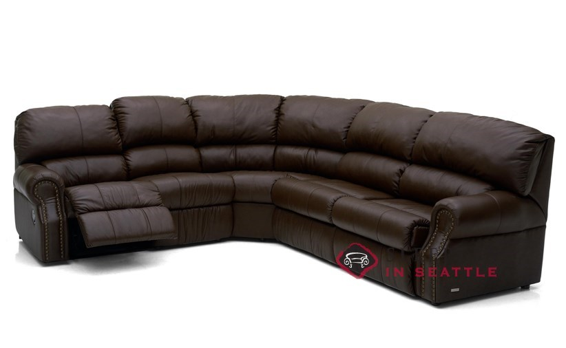 palliser charleston reclining true sectional top grain leather full sleeper sofa power upgrade available