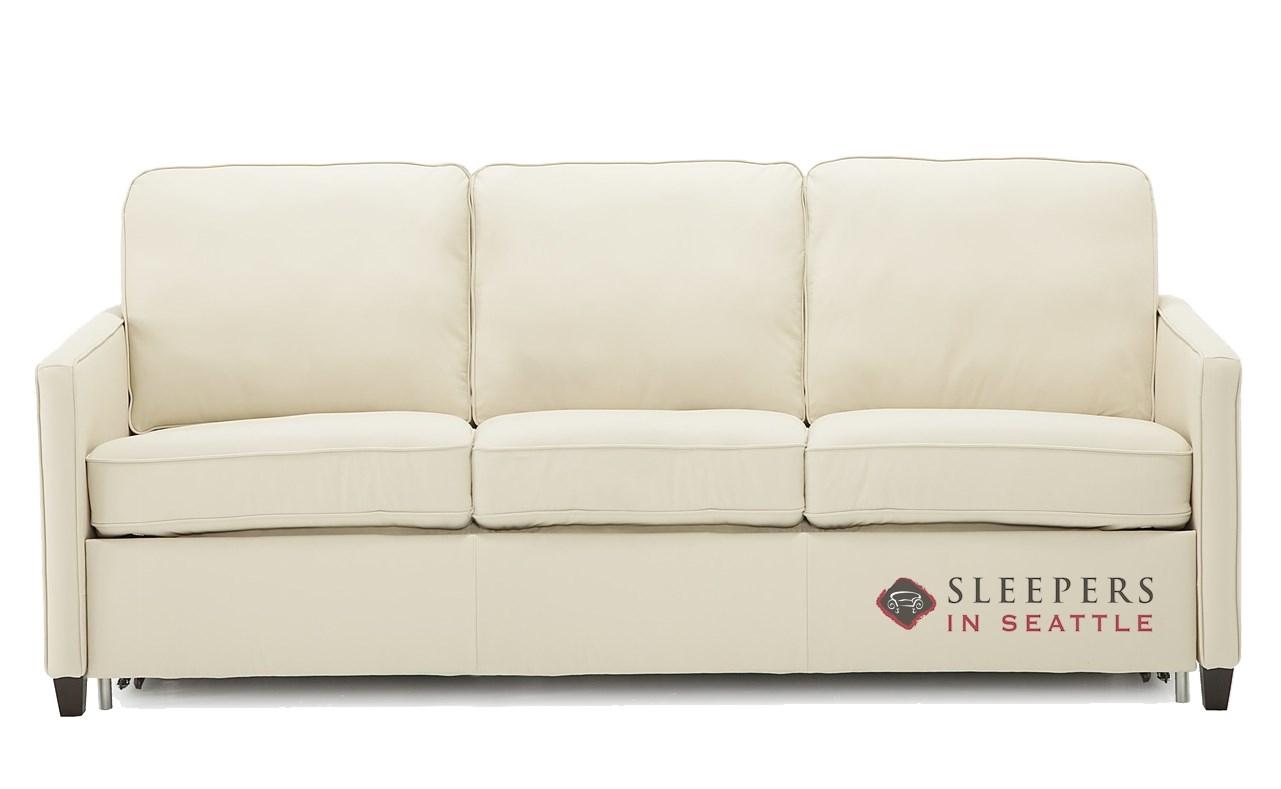 Palliser California Cloudz Queen Top Grain Leather Sleeper Sofa
