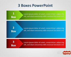 Free Three Boxes PowerPoint Template