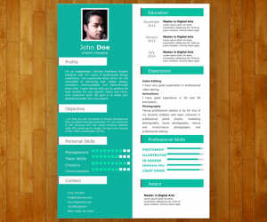 Free One Slide Resume Template For PowerPoint Free PowerPoint Templates