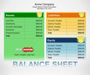Free Balance Sheet PowerPoint Template Free PowerPoint Templates