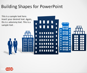 Free Office Building Shapes For PowerPoint Free PowerPoint Templates