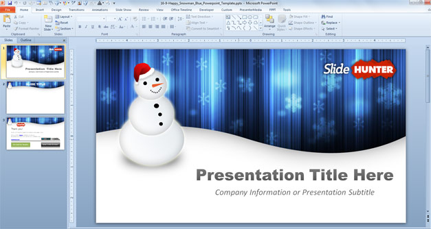 Free Snowman Powerpoint Template Free PowerPoint