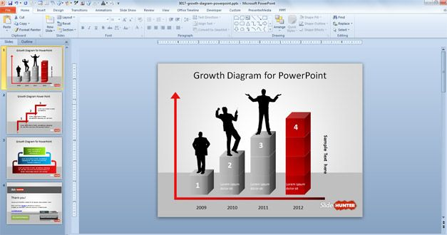 Free Growth Diagram Template For PowerPoint