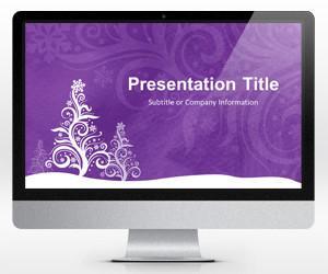 Widescreen Golden Balls PowerPoint Template For Christmas 16x9