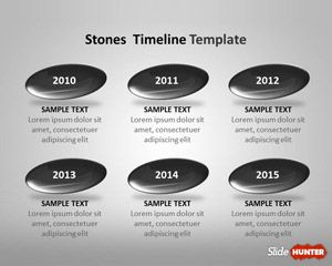 Free Stones Timeline Template for PowerPoint Stones Timeline Template for PowerPoint